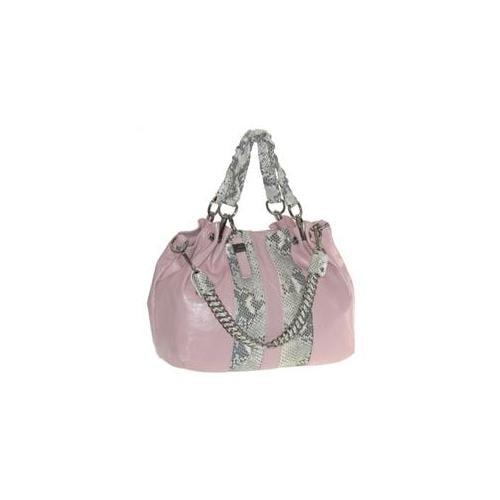 Buxton FDL11020. PK. BX Jasmine Collection Leather Satchel - Pink