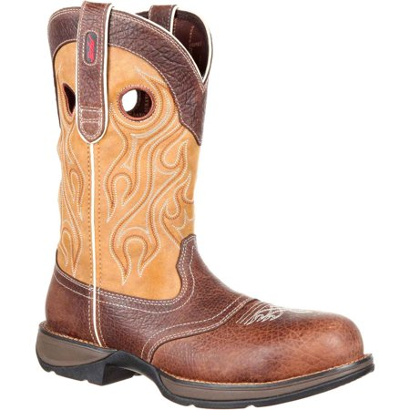 Rebel by Durango Men's Brown and Tan Composite Toe Waterproof Saddle DDB0123