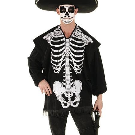 Disfraz De Scream Para Halloween (Skeleton Serape Mens Halloween Screen Printed Halloween Shawl)