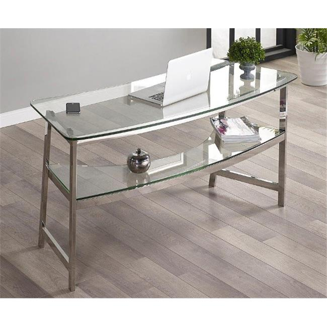 Turnkey Products Geo Glass Writing Desk, 62 inch