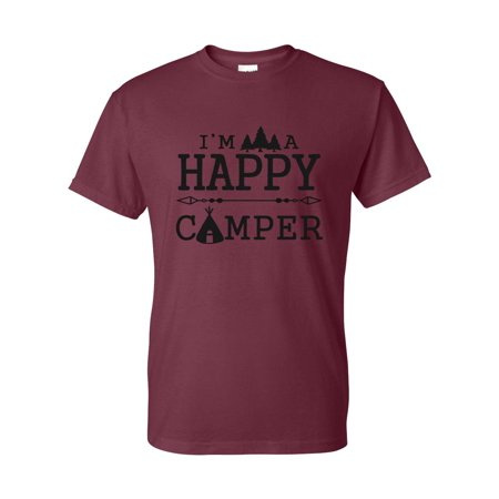 I'm A Happy Camper Mens Womens T-Shirt Top