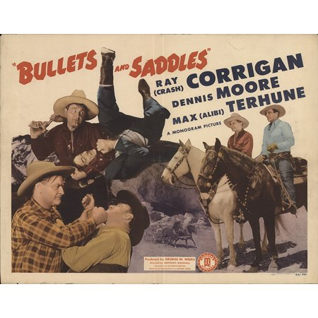 Bullets and Saddles (1943) Laminated Movie Poster Version 1 Print 24 x (Bullet Saddle)