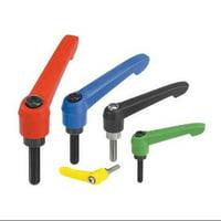 KIPP 06610-2A287X15 Adjustable Handles,0.59,1/4-20,Blue