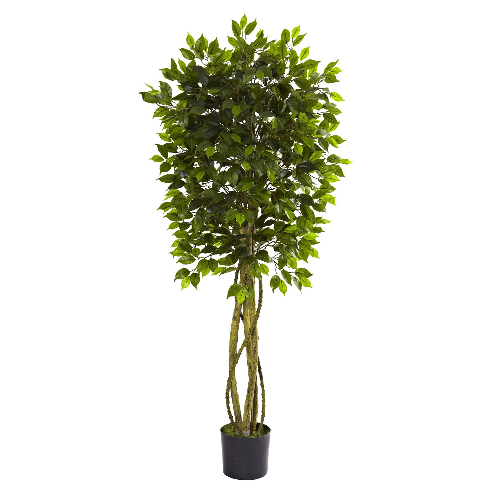 Nearly Natural 5-1/2' Ficus Tree, UV Resistant, Indoor and Outdoor