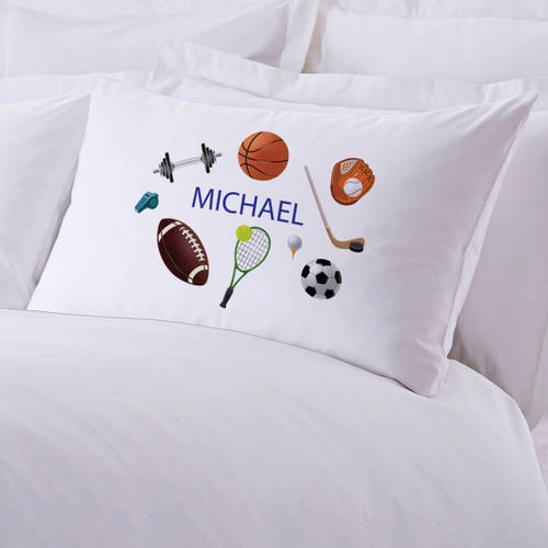 Personalized Kids Name Sports Pillow Case