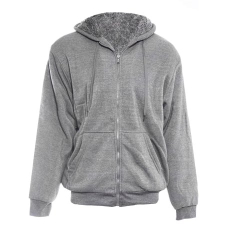 Alta Men's Hoodie Zip Up Jacket Sherpa Lined Fleece Sweater