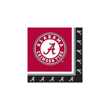 Creative Converting 207125 Alabama Crimson Tide Lunch Napkins - University Of Alabama Party Supplies