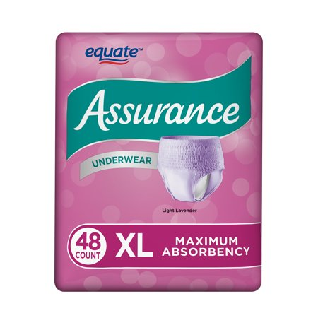 Pull On Briefs (Assurance Incontinence Underwear, Women's, Size XL, 48)