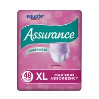 Assurance Incontinence Underwear for Women, Size XL, 48 Ct