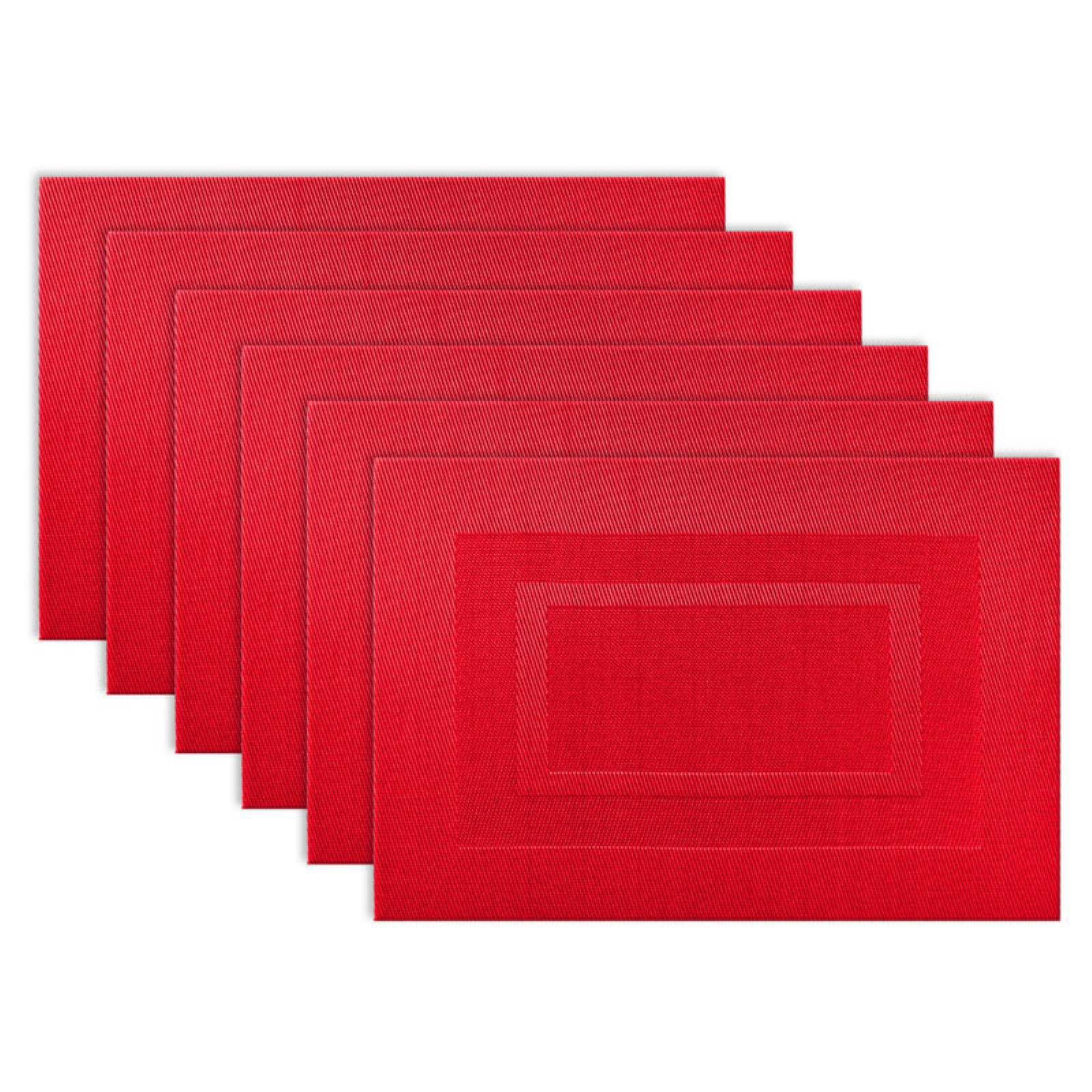 """Design Imports Doubleframe Kitchen Placemat Set, Set of 6, 18""""x13\ by Design Imports"""