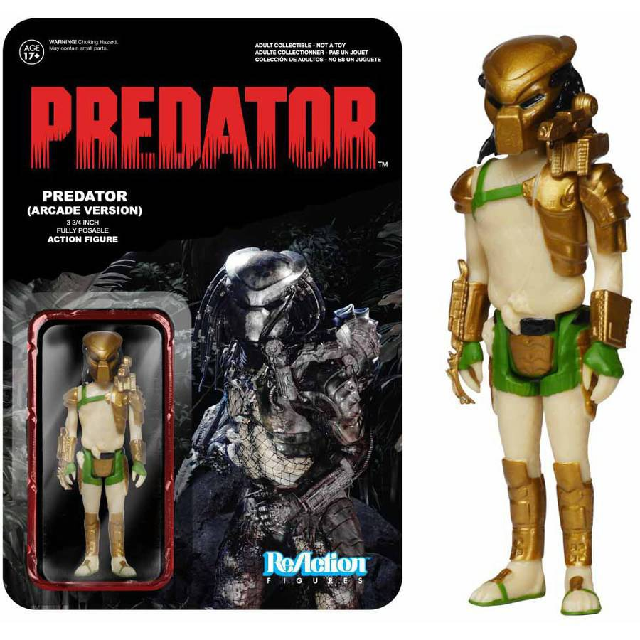 "Funko Reaction Predator 3-3/4"" Fully Posable Action Figure (Exclusive Arcade Version) G849803052614"