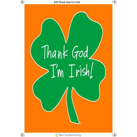 Irish Eyes Garden (Colorful Garden Thank God I'm Irish Garden)
