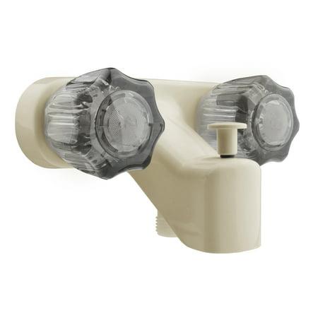 Dura Faucet RV Tub & Shower Diverter Faucet - Bisque Parchment