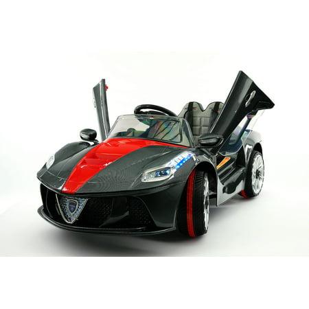 Spider GT Kids 12V Ride-On Car with R/C Parental Remote | Carbon -
