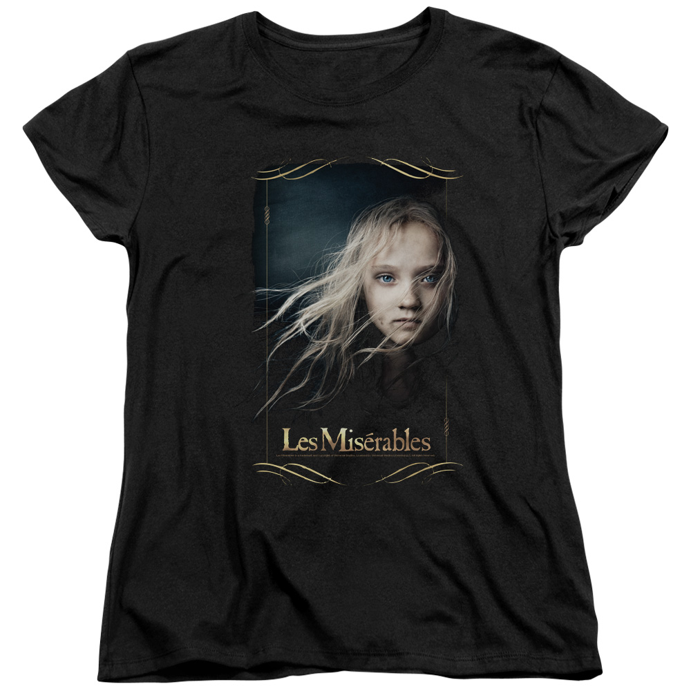 Les Miserables Cosette Womens Short Sleeve Shirt
