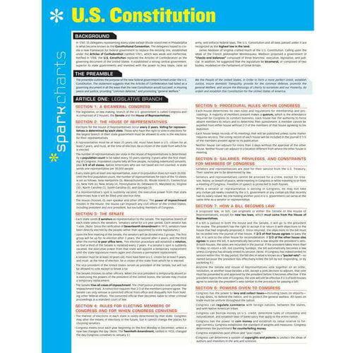 Sparkcharts U. S. Constitution