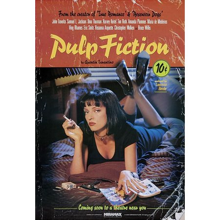 Pulp Fiction - Movie Poster / Print (Uma Thurman / Mia Wallace - On Bed) (Size: 27