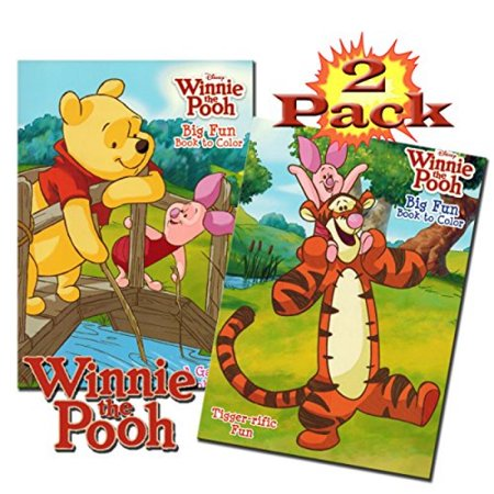 Disney Winnie The Pooh Coloring And Activity Book Set (2 Books - 96 Pages) - Halloween Coloring Pages Disney Printable