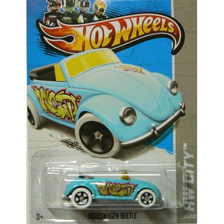 2013 Hw City Light Blue Volkswagen Beetle Graffiti Rides 40/250, 2013 Hw City Series By Hot Wheels City Lights Series