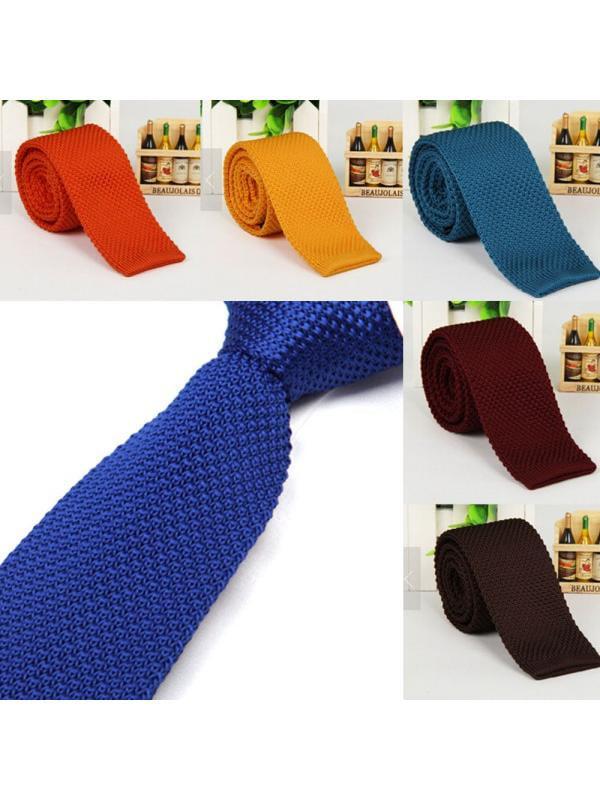 Fashion Men Knit Knitted Tie Necktie Narrow Slim Skinny Solid Casual Woven Tie