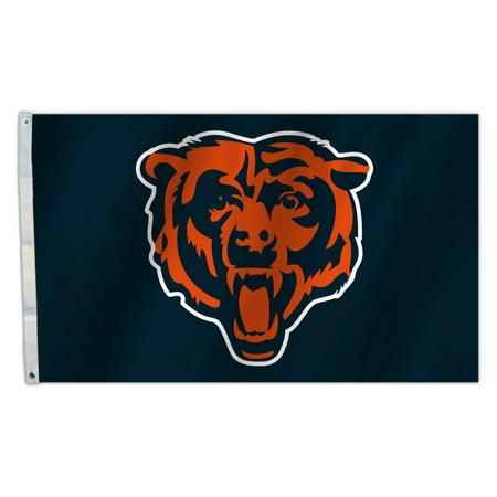Chi Bears - CHI BEARS Heads Logo 3X5 Flag