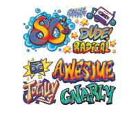 """Set Of 15 Retro 80's Graffiti Props Decoration 3"""" - 3' 7"""""""