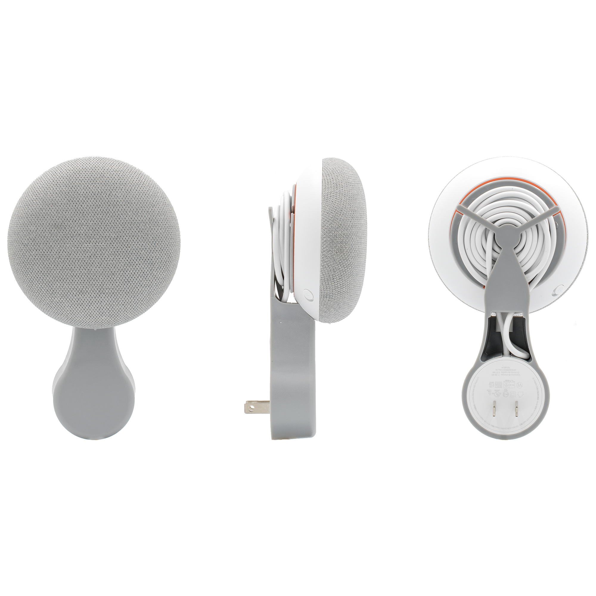 Hidden Power Cord Streamlined Plug-in Stand for Google Home Mini(White) Ti-Baismt Wall Mount for Google Home Mini Round Speakers