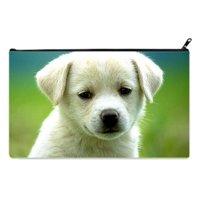 POPCreation Labrador Retriever Kids School Pencil Case Pencil Bag (Twin sides) 9x5.5 inches