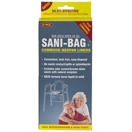 Cleanwaste H645S1 Sani Bag Plus Commode Liners-10 Pack