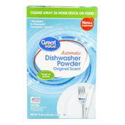 (2 Pack) Great Value Automatic Dishwasher Powder, Original Scent, 75 oz