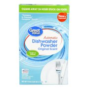 (2 Pack) Great Value Automatic Dishwasher Powder, Original Scent, 75 oz