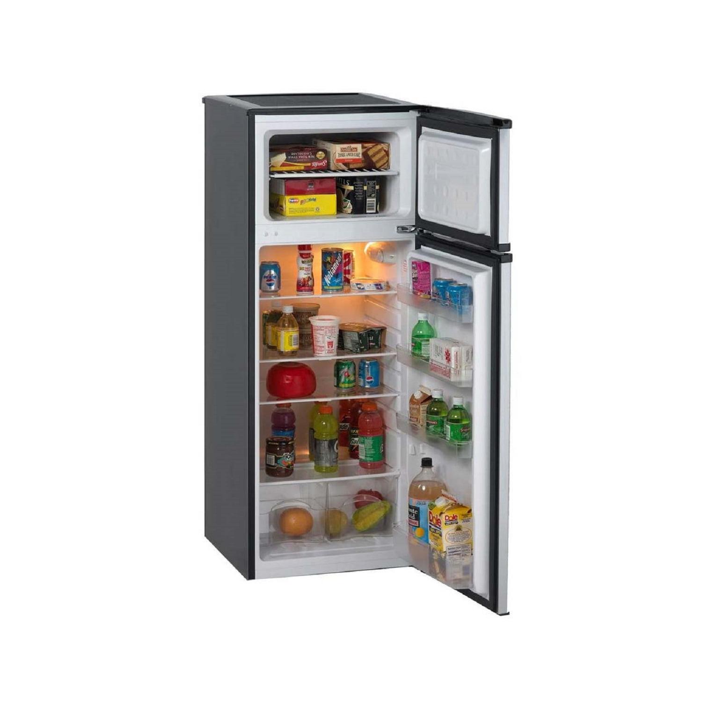 Apartment Refrigerator Top Freezer Home Kitchen Cooling Adjustable Height Black