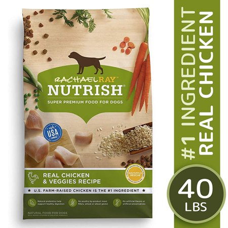 Rachael Ray Nutrish Natural Dry Dog Food, Real Chicken & Veggies Recipe, 40 (Best Dog Food For The Money)