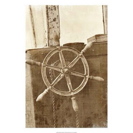 - Sepia Ship's Wheel II Poster Print by Vision studio (18 x 26)