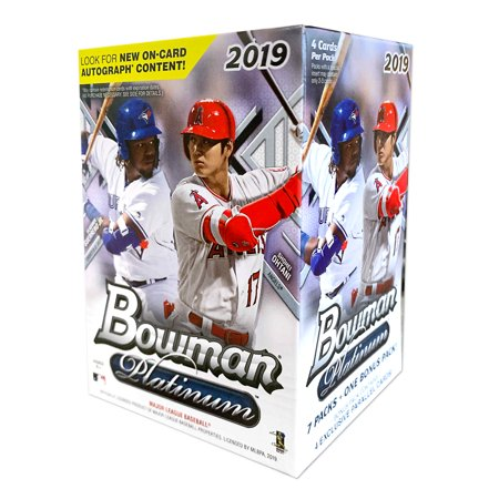 2019 Topps Bowman Platinum Baseball Blaster Box- 28 Topps Bowman Baseball Trading Cards | 1 bonus 4-card Ice foilboard parallel pack
