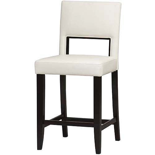 Linon Home Vega Counter Stool 24 Quot White Walmart Com