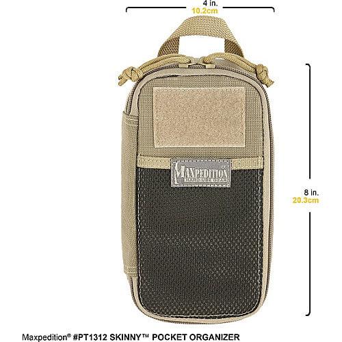 Maxpedition MXPT1312W Skinny Pocket Organizer Wolf Grey