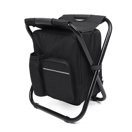 Outdoor Folding Stool Portable Backpack Chair Stool with Insulated Cooler Bag for Camping Fishing Hiking (Insulated Cooler Chair)