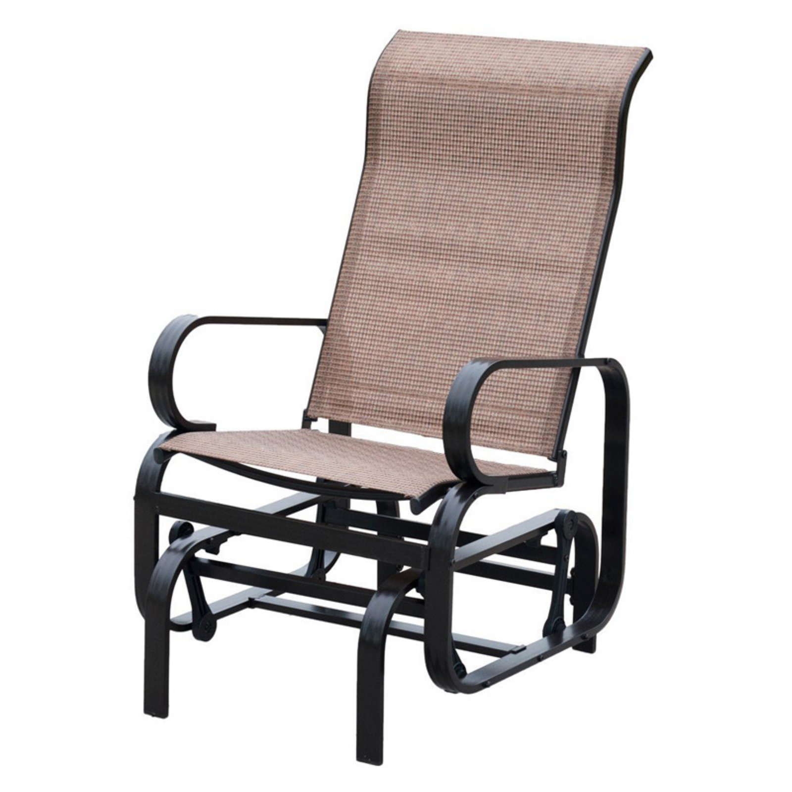 Patiopost Sling Glider Outdoor Patio Chair Textilene Mesh Fabric Tan