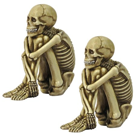 Design Toscano Mr. Bone Jangles Skeleton Sitter Statues: Set of Two - Mr Bones Halloween Song