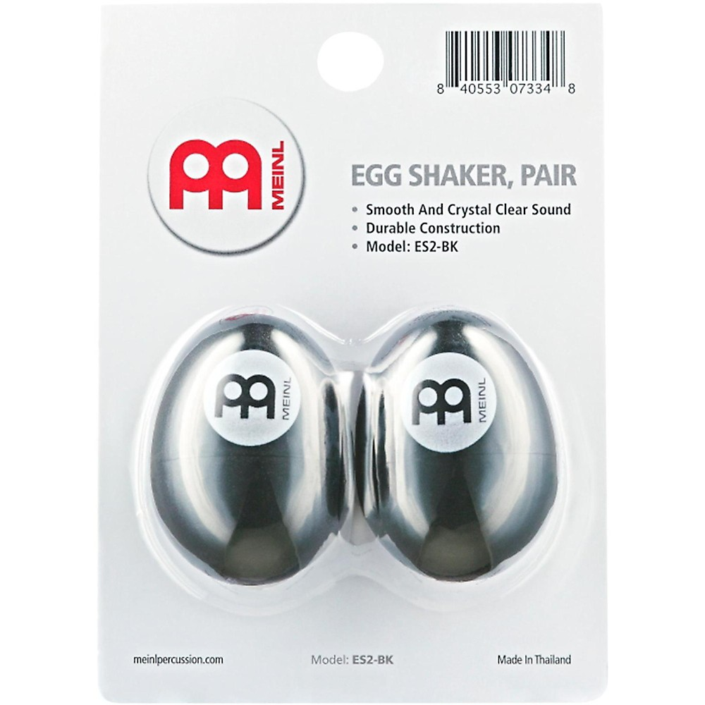 Meinl Egg Shaker (Pair) Black
