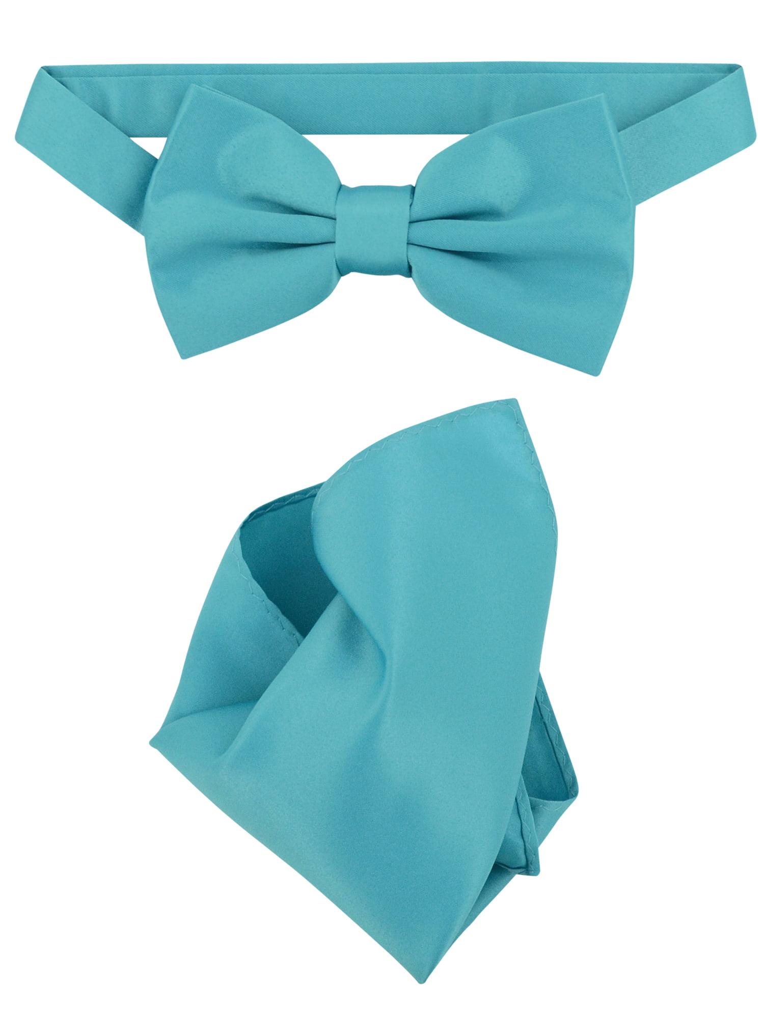 New Teal Turquoise Blue Bow Tie Suspender set Formal Men Wedding  USA SELLER