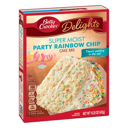 Betty Crocker Super Moist Rainbow Chip Cake Mix, 15.25