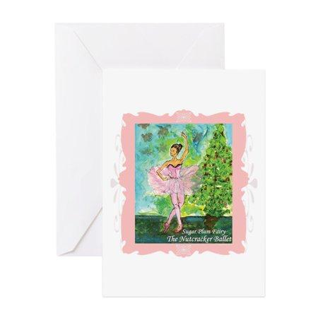 CafePress - Sugar Plum Fairy - Greeting Card, Blank Inside Glossy - The Sugar Plum Fairy Horror