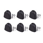 Aibecy 6PCS Tuning Peg Caps Polished Tuner Key Button Cap String Knob Handle with Screws Washer Parts for Acoustic and Electric Guitars Black