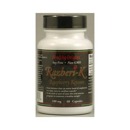 Healthy Origins Razberi-K - 100 mg - 60 Capsules