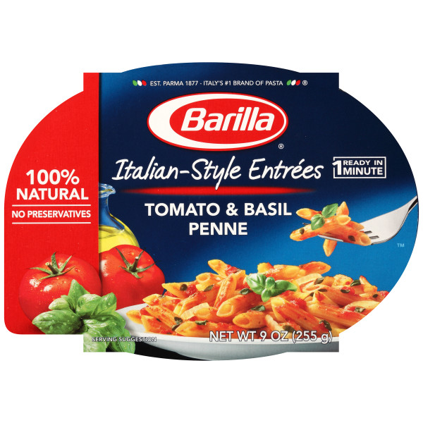 Barilla Pasta Italian-Style Entrees Tomato & Basil Penne 9 oz Package