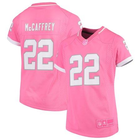 Christian McCaffrey Carolina Panthers Girls Youth Fashion Bubble Gum Jersey  - Pink - Walmart.com 8bc075b5c