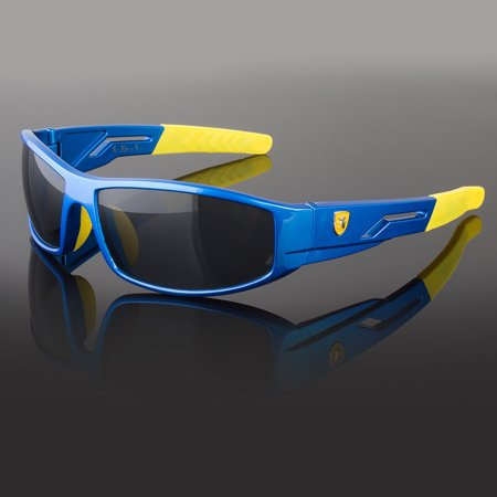Children 7-14 Kids Sunglasses For Boys Cycling Baseball Youth Sports Glasses ()