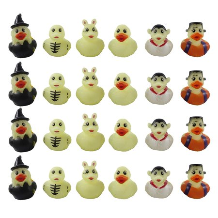 Theme Names For Halloween Party (BULK 24 Halloween Theme Rubber Duckies - Glow in the Dark Spooky Duck for Party or Trick or Treat (2)